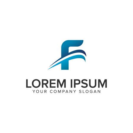 Cative Modern letter F Logo design concept template . fully editable vector Illustration