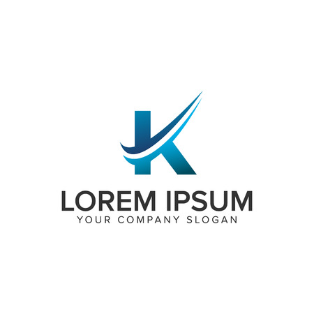 Cative Modern letter K Logo design concept template . fully editable vector Illustration