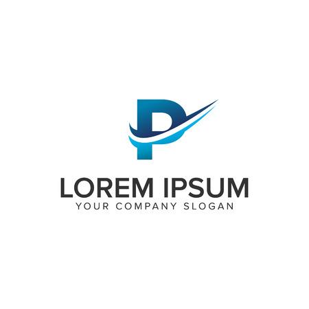 Cative Modern letter P Logo design concept template . fully editable vector Ilustração