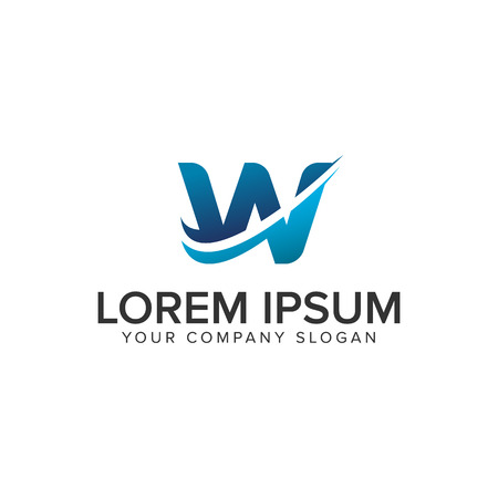 Cative Modern letter W Logo design concept template . fully editable vector