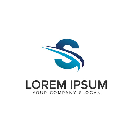 Cative Modern letter S Logo design concept template . fully editable vector