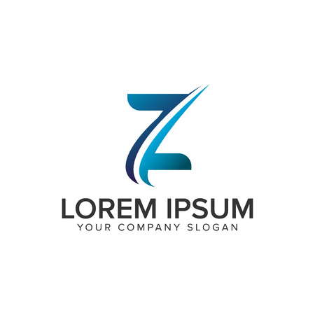 Cative Modern letter Z Logo design concept template . fully editable vector