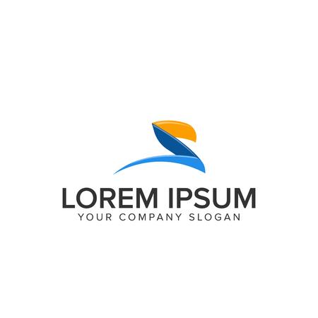 creative modrn letter S logo design concept template. fully editable vector