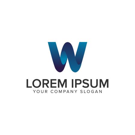 Modern Letter W 3D logo design concept template. fully editable vector 일러스트