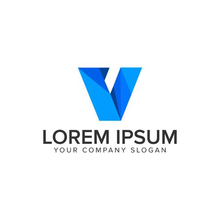 Modern letter V technology business icon design concept template design concept template. fully editable vector Illustration
