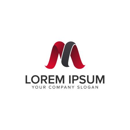 Modern letter M icon design concept template. Fully editable vector illustration.