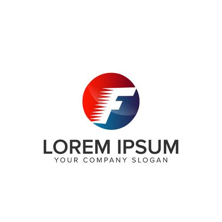 Letter F speed Logo