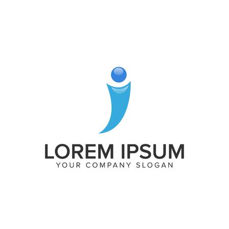 Letter I logo Reklamní fotografie - 94654909