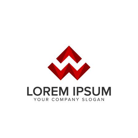Letter W 3D logo