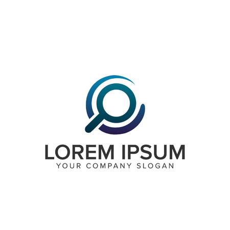 Searching logo illustration