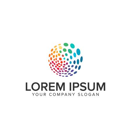 Logo à points circulaires multicolores