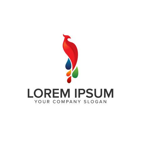 Phoenix bird logo Ilustração