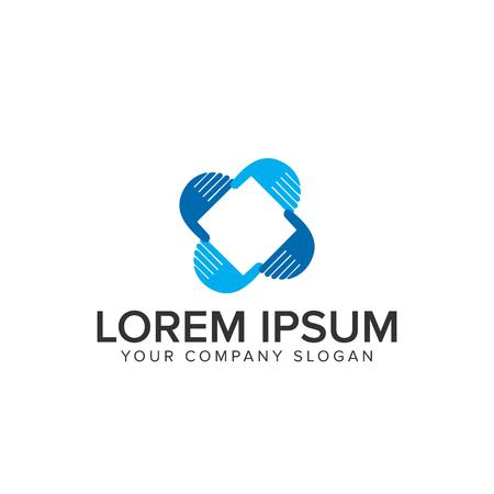 Logo de soin des mains Logo