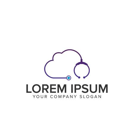 Cloud medical logo