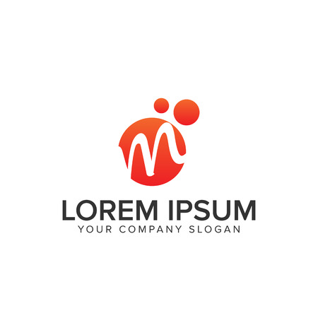 Letter M circle logo