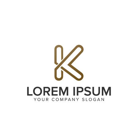 Luxury letter K logo Ilustracja
