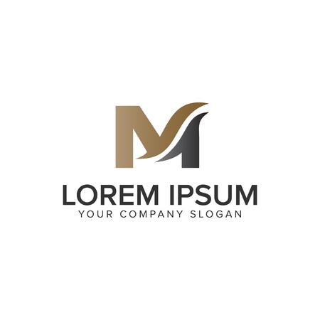 Modello di lettera M business logo design concept. vettore completamente modificabile
