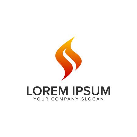 Letter S flame logo design concept template. fully editable vector