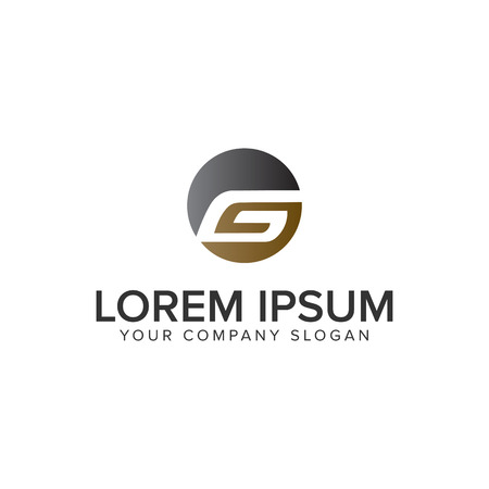 Letter G circle logo design concept template. fully editable vector