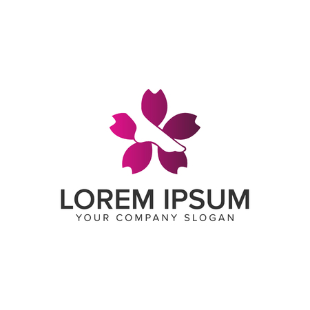 leg flower medical pharmacy spa logo design concept template. fully editable vector