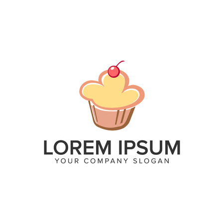 Cake food icon design concept template. Fully editable vector illustration.