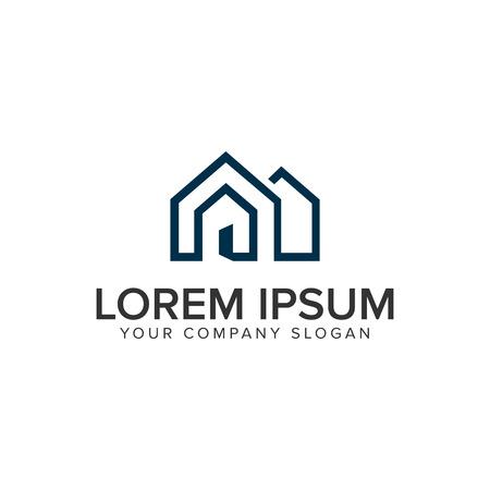 Modèle de concept de conception de logo immobilier maison hypothécaire Logo
