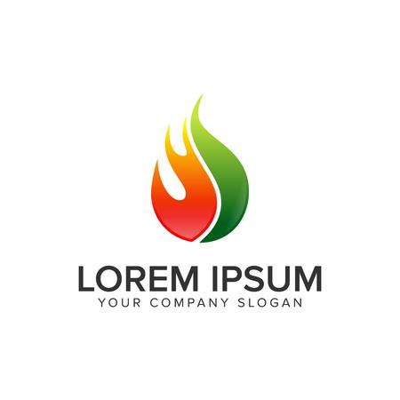 Soltar fuego. Plantilla de concepto de diseño de logotipo de gas de petróleo. Foto de archivo - 95607428