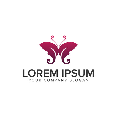 A letter M butterfly logo design concept template. Illustration