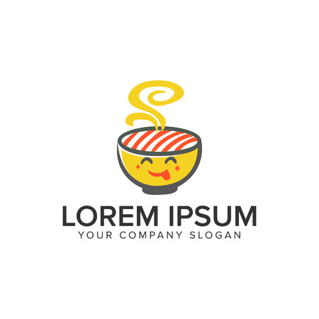 Food noodle logo design concept template.