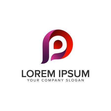 Letter P modern logo design concept template. Stock Illustratie
