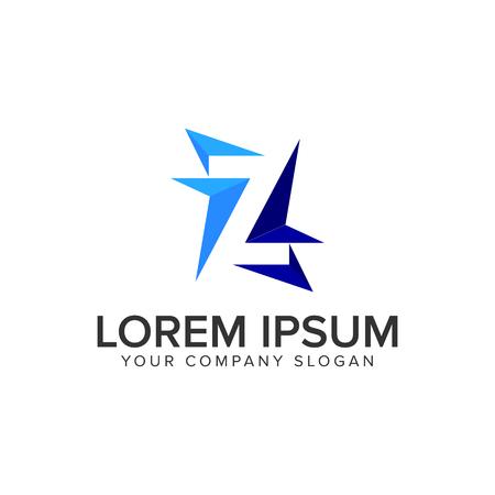 Letter Z modern Logo design concept template.