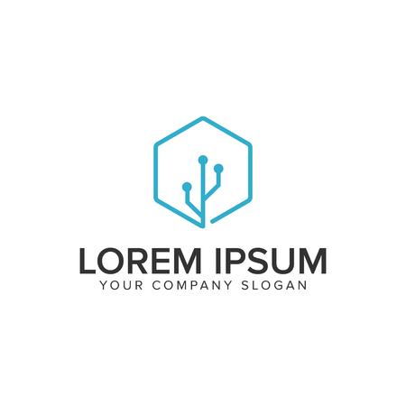 Conection usb logo design concept template. Illustration