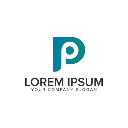 letter P modern logo design concept template.