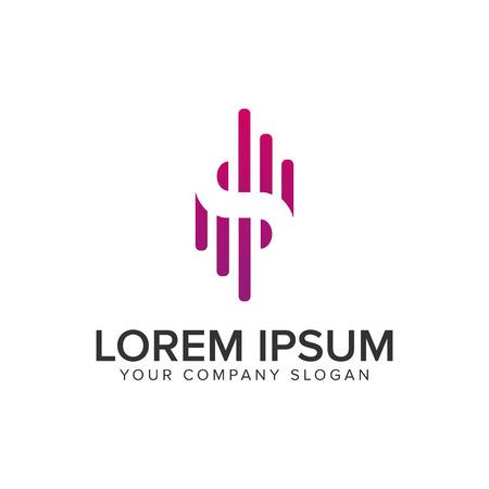 Letter S modern logo, signal logo design concept template.