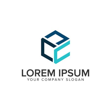 Letter C Box logo design concept template. Illustration