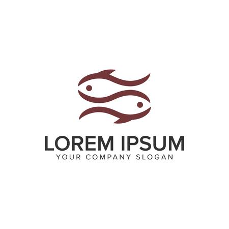 Paar vis logo ontwerp concept sjabloon. Stockfoto - 96970623