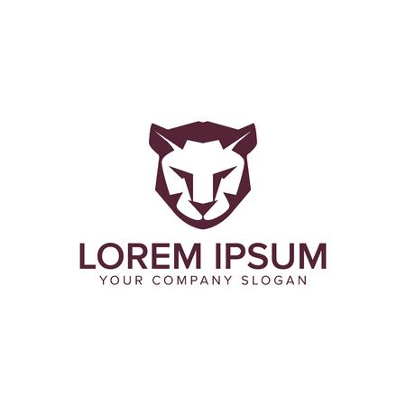 Lion tiger logo design concept template.