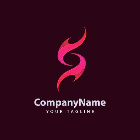 Letter S vlam Logo ontwerpsjabloon. Logo