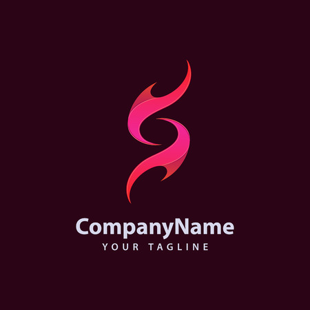 Letter S flame Logo design template.