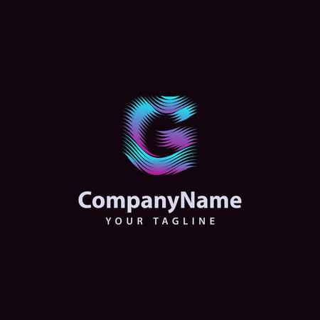 Letter G modern Wave line Logo design template. Vector illustration.