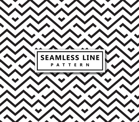 The geometric pattern by stripes . Seamless vector background. Black texture.  イラスト・ベクター素材