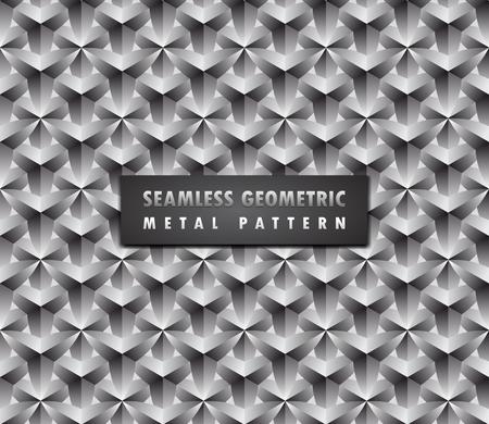 Modern geometric 3d seamless background illustration. Illustration