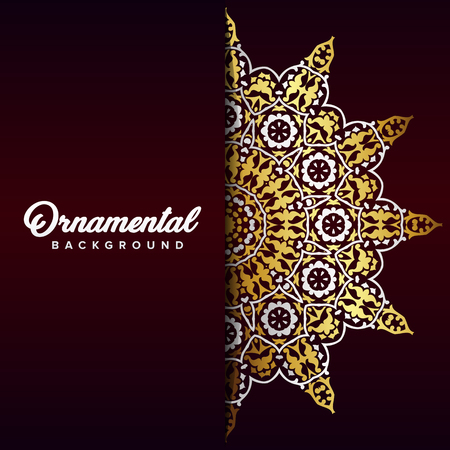 Arabic ornament background baroque in Victorian style. Element for design Illustration