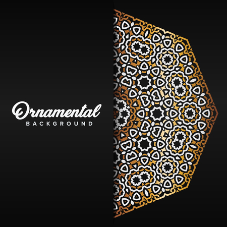 Arabic ornament background baroque in Victorian style. Element for design Standard-Bild - 104925344