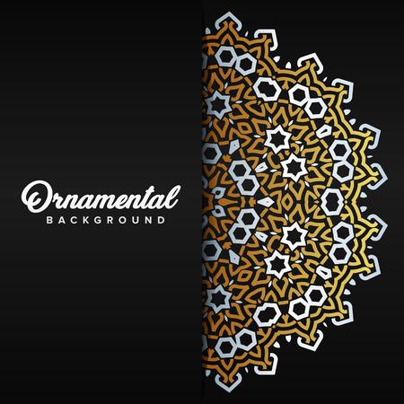 Arabic ornament background baroque in Victorian style. Element for design Standard-Bild - 104925303