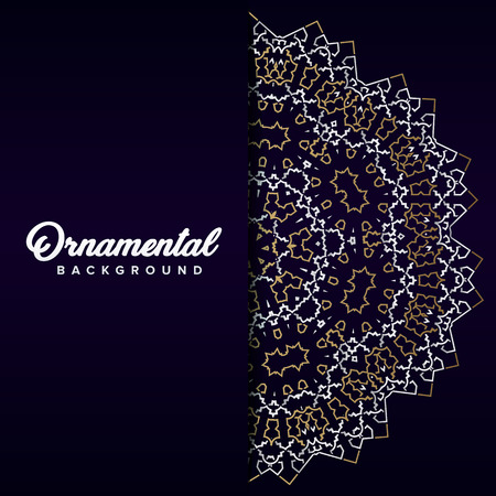 Arabic ornament background baroque in Victorian style. Element for design Illustration