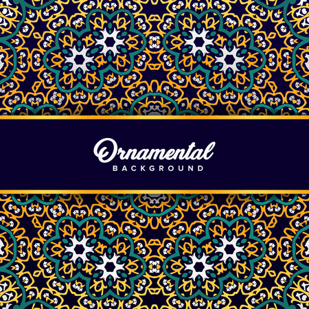 Arabic ornament background baroque in Victorian style. Element for design Standard-Bild - 104925310