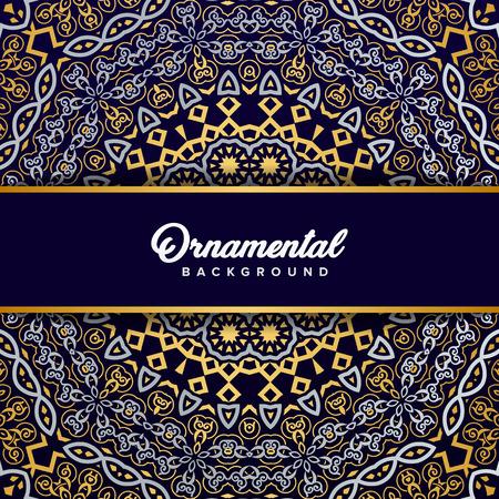 Arabic ornament background baroque in Victorian style. Element for design Stock Illustratie
