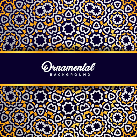 Arabic ornament background baroque in Victorian style. Element for design Standard-Bild - 104925315
