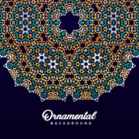 Arabic ornament background baroque in Victorian style. Element for design  イラスト・ベクター素材